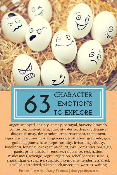 Explore your character's inner life with these emotions. | Fiction Notes by Darcy Pattison