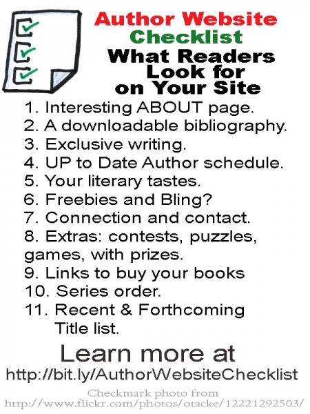 Author Website Checklist: Fiction Notes blog. 28 Days to a Fantastic Author Website.