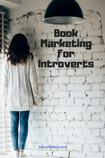 Book marketing for introverts: introvert faces wall rather than market.