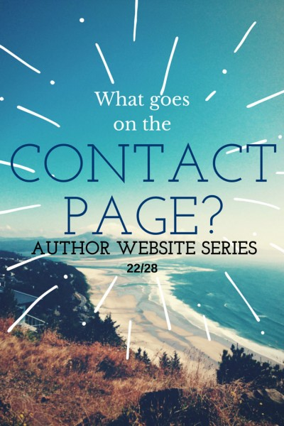 What's the best way for fans, editors, PR folks, and other to contact you? Ideas for your author website Contact Page.