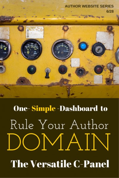 One simple dashboard controls your author domain: learn the C-panel basics and you've got your domain under control. Easy, simple, empowering.