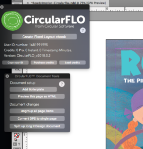 Format picture books for Kindle: Circular Flo Controls