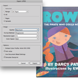 Format picture books for Kindle: settings for exporting jpegs from Indesign for Picture Books