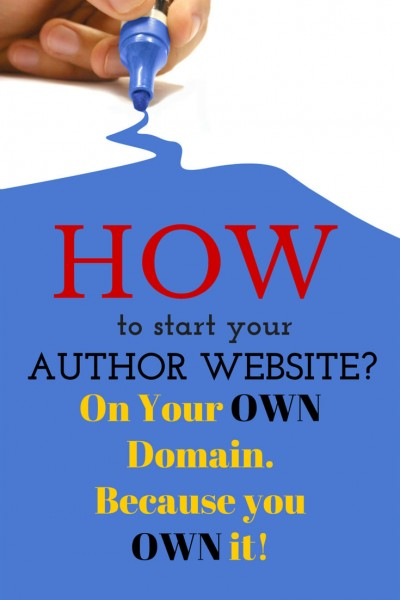 Your author website should be on your OWN domain. Why? Because you OWN your traffic, your audience, your stats, and your destiny.