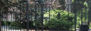 Wrought Iron Gate in front of Stephen King's Bar Harbour, ME house.