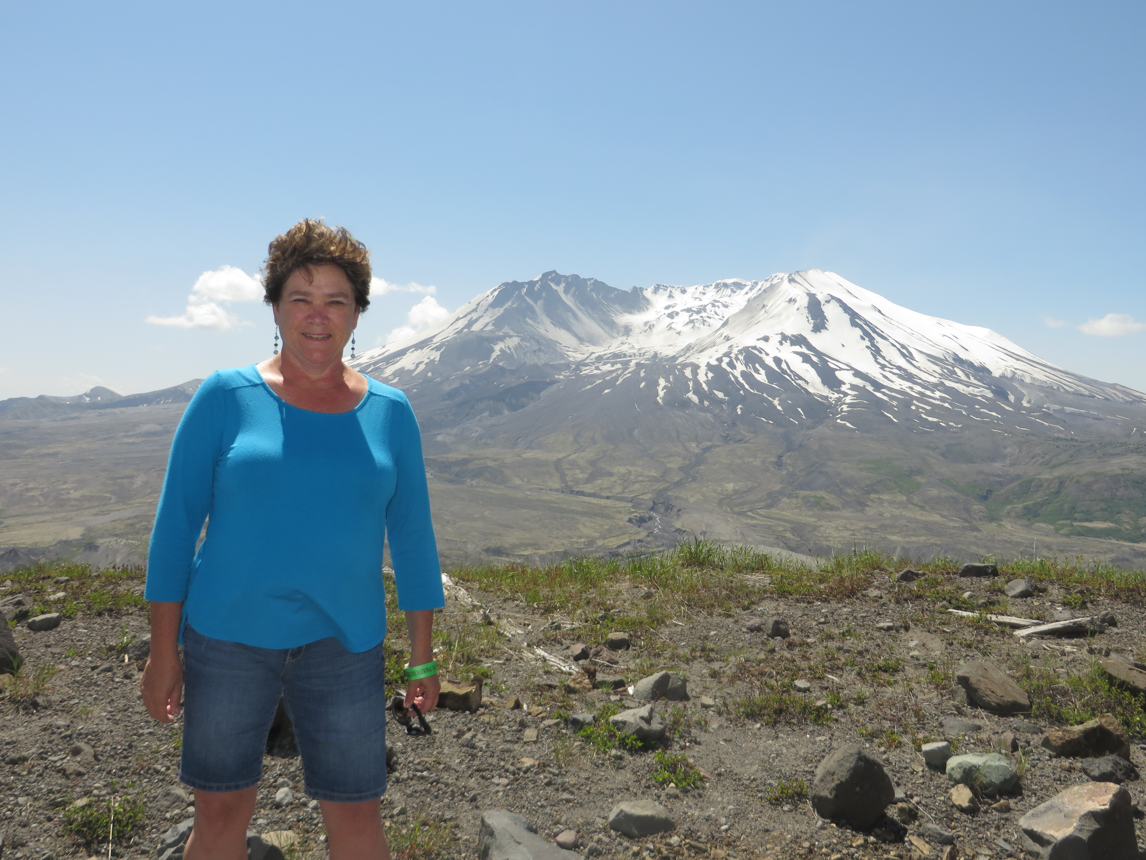 Darcy Pattison at Mt. St. Helens