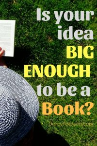 Is Your Idea Big Enough to Be a Book? | DarcyPattison.com