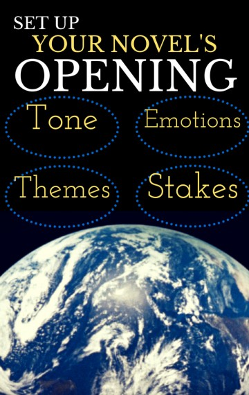 Great writing exercise to find openings that set up your novel's opening.