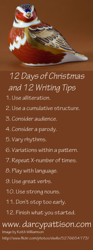 12 Days of Christmas Writing Tips
