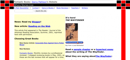 Snapshot of my website from November 7, 2001.