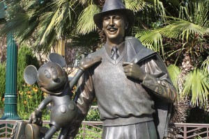 Storytellers Statue on Buena Vista Street in Disney California Adventure Park. One of the most amazing American storytellers that ever lived.