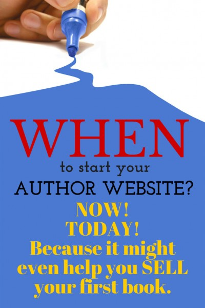 When should you start your author website? NOW! It helped these two authors sell their first books.