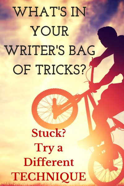 Stuck in Revision? Pull out your writer's bag of tricks and try something different.